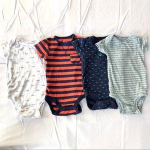 4 Carters onesies 3 months